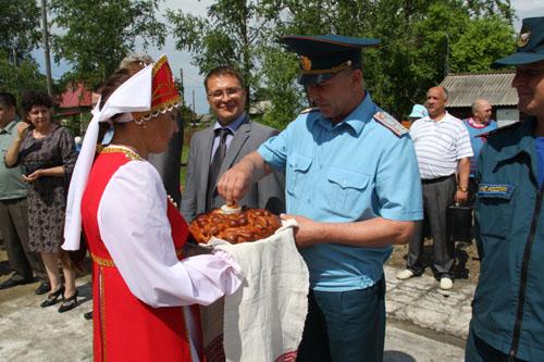 Открытие пожарного поста в с. Поротниково Бакчарского района
