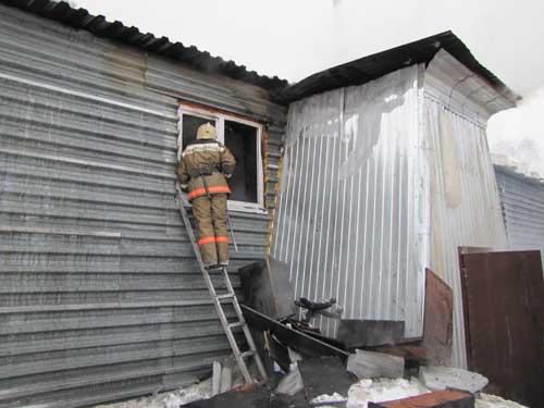 Пожар на ул. Мокрушина 9, строение 22.