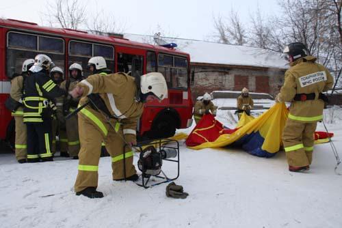 Пожарно-тактические учения во 2-ом корпусе ТГУ