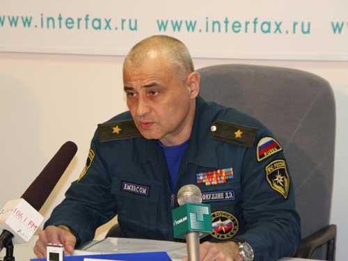 Пресс-конференция начальника СРЦ МЧС России в Интерфаксе.