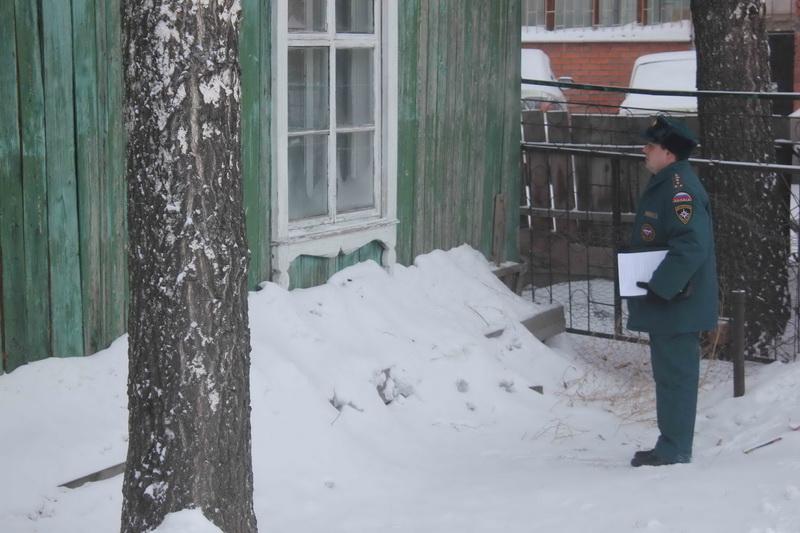 Рейд в жилом секторе Октябрьского района г. Томска