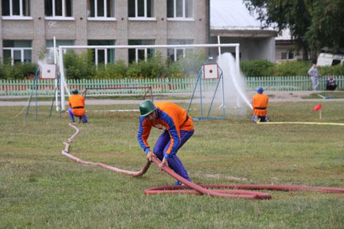 XI областные соревнования по пожарно-прикладному спорту в с. Подгорное Чаинского района. Второй день