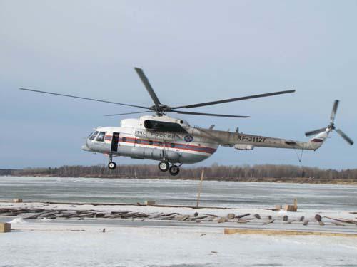 Ледовзрывные работы в Парабельском и Каргасокском районах 11-12 апреля 2012 года