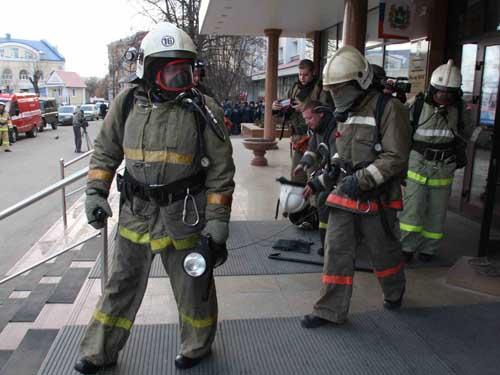 Пожарно-тактические учения в гостинице