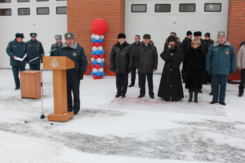 Открытие нового здания Главного управления МЧС России по Томской области и вручение Главному управлению Знамени