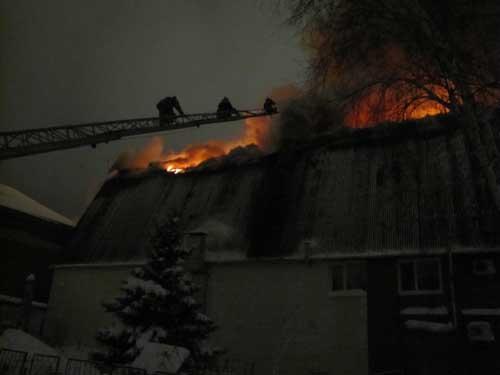 Пожар в сауне на ул. Советской, 25