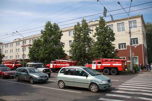 Пожарно-тактические учения в Томском государственном педагогическом университете