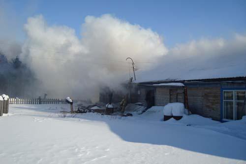Пожар в с. Александровское Александровского района. Погибли три человека.