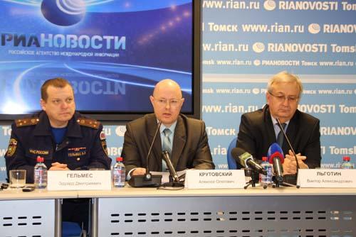 Пресс-конференция в РИА Новости посвященная прохождению паводка в Томской области