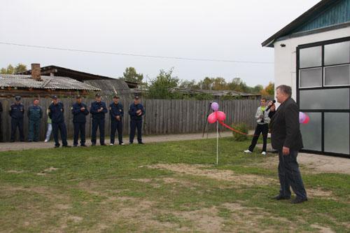 Открытие пожарных постов в селах Сергеево, Орехово, Березовка Первомайского района