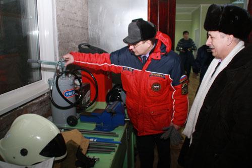 Открытие пожарного поста в с. Цыганово Зырянского района