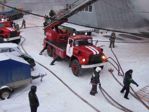 Пожар на пр. Кирова, 58 строение 70.