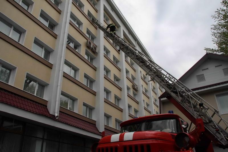 """Пожарно-тактические учения в гостинице """"Томск"""""""
