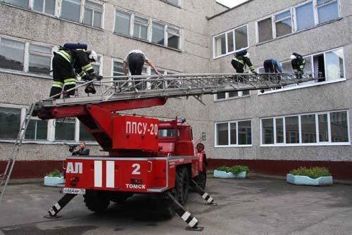 Пожарно-тактические учения в лицее № 7