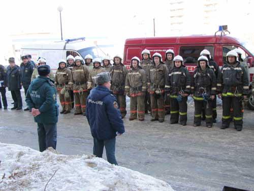 Учения в Сибирском государственном медицинском университете.