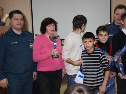 Награждение детей за участие в соревнованиях по ПСС