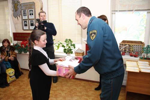 Награждение детей по итогам областного конкурса Телефон спасения 01