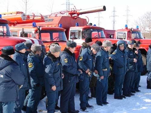 Учения с пожарно-насосными станциями на ТЭЦ-3