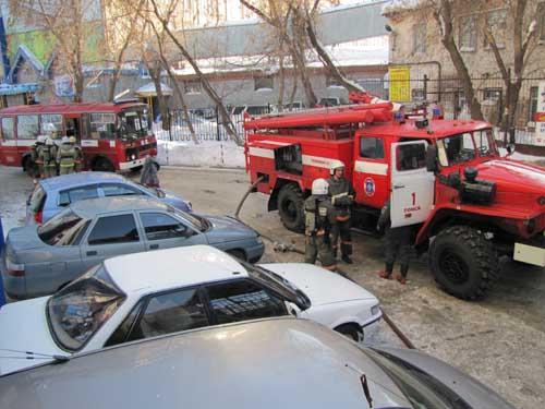Пожар на ул. Красноармейской, 99а (здание НИИПП).