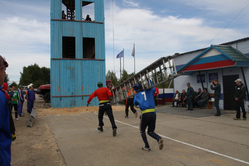 XI областные соревнования по пожарно-прикладному спорту в с. Подгорное Чаинского района. Первый день