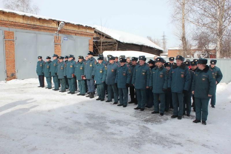 Пожарно-тактические учения в учебно-методическом центре ГОЧС