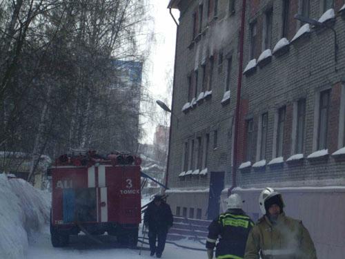 Пожар в школе-интернате № 22 г. Томска