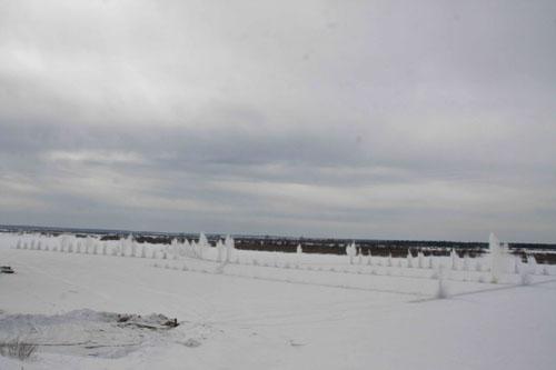 Ледовзрывные работы у нового автомобильного моста