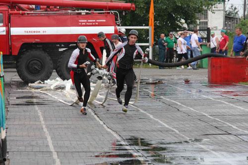 XII чемпионат по пожарно-прикладному спорту среди пожарных и спасателей в с. Каргасок. Второй день соревнований