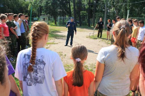 """Профилактические занятия в детском лагере """"Пост № 1"""""""