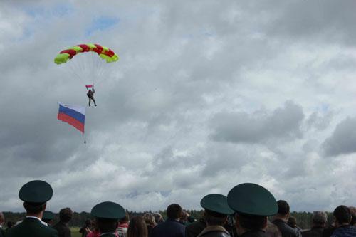 Мероприятие, приуроченное к празднованию Дня работников леса, на аэродроме ДОСААФ в поселке Головино