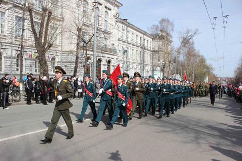 День Победы (шествие колонн от пл. Новособорной до Лагерного сада)