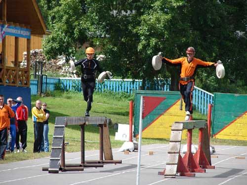 9-ые областные соревнования по пожарно-спасательному спорту в с. Кривошеино