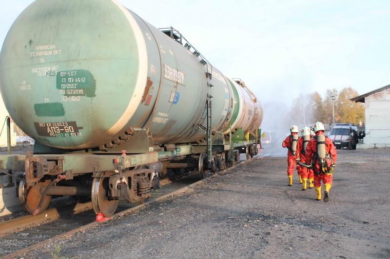 Учения на железнодорожной станции Томск-II в рамках Всероссийской тренировки по гражданской обороне