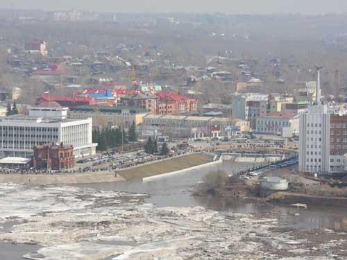 Облет Томска на вертолете.