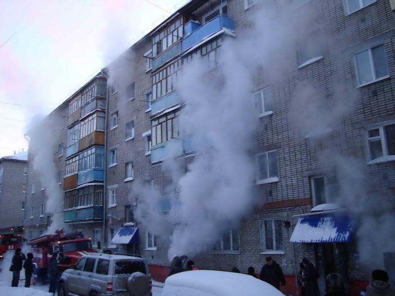 Пожар в г. Томске на ул. 79-ой Гвардейской дивизии, 5