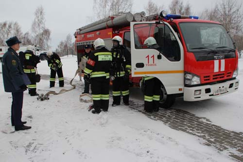 Учебная эвакуация в Главном управлении МЧС России по Томской области
