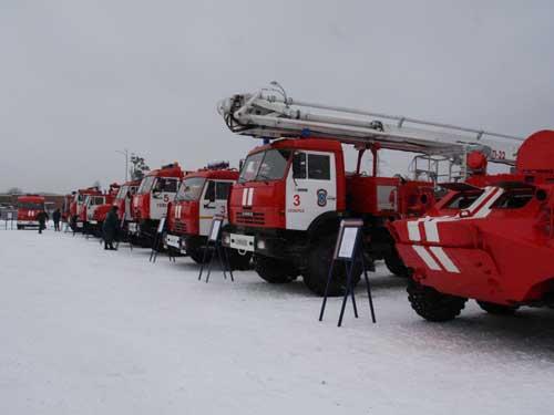 Открытие пожарной части № 3 СУ ФПС № 8 МЧС России в Северске