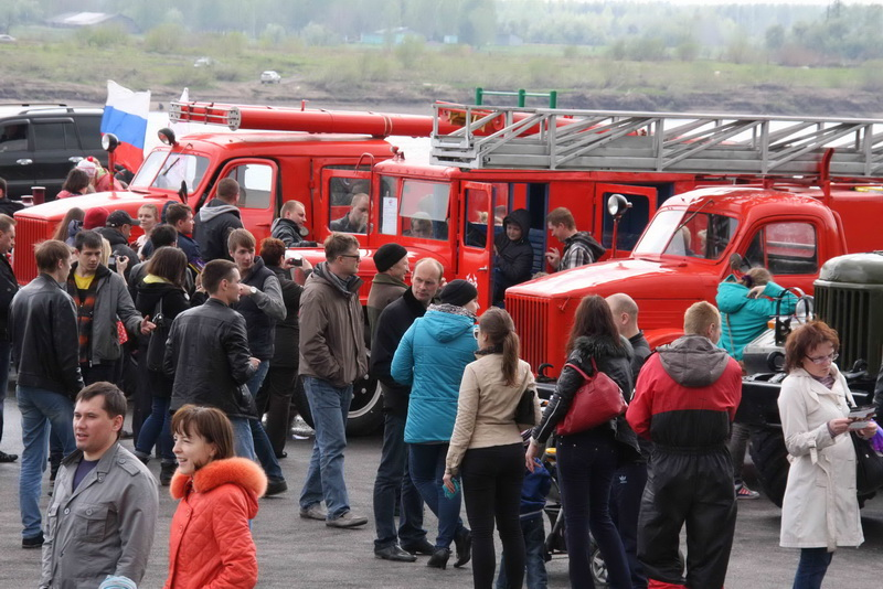 Парад ретромобилей в Томске