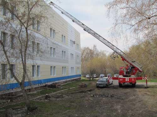 Учения в городской больнице скорой помощи