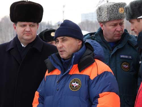 Приезд в Томск начальника СРЦ МЧС России Данияра Сафиуллина.