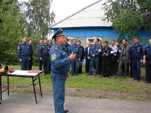 Сборы с руководящим составом ГОЧС по итогам 1 полугодия 2010 года в с. Кривошеино