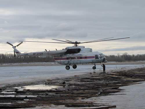 Ледовзрывные работы в Парабельском и Каргасокском районах.