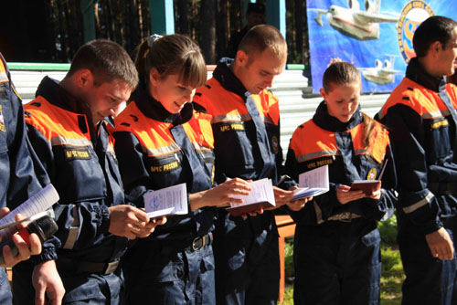 Посвящение студентов Томского политехнического университета в спасатели