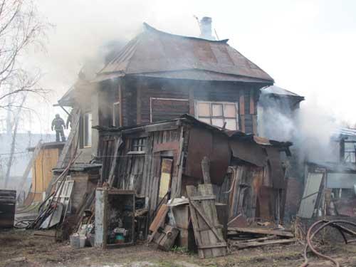 Пожар на пер. Луговом, 22.
