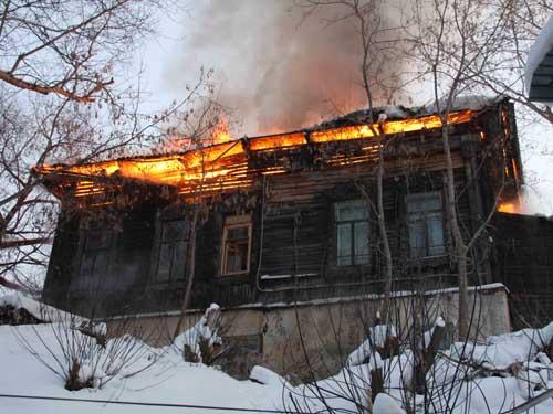 Пожар на ул. Советской, 13.