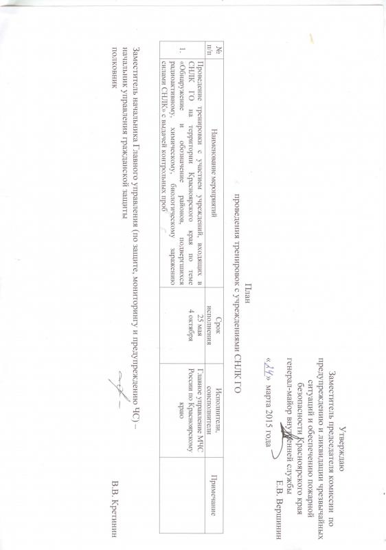 решение № 6 о проведении тренировки СНЛК