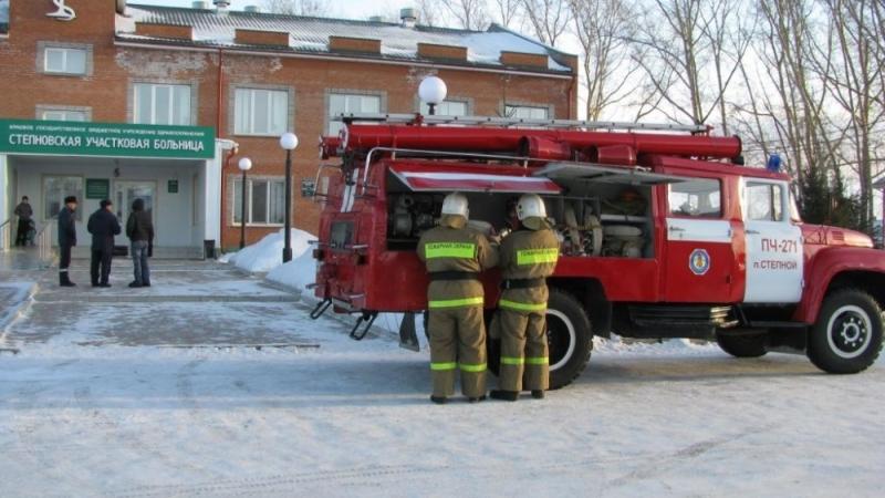 Пожарная эвакуация пациентов сельской больницы прошла успешно