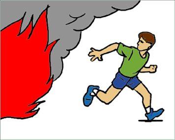 Детям о первых признаках пожара