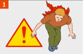 Полезная информация: если на человеке горит одежда