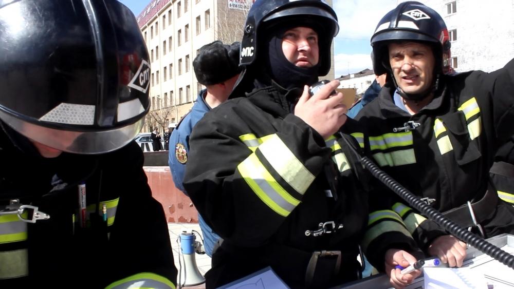 Пожарно-тактическое учение в Драматическом театре